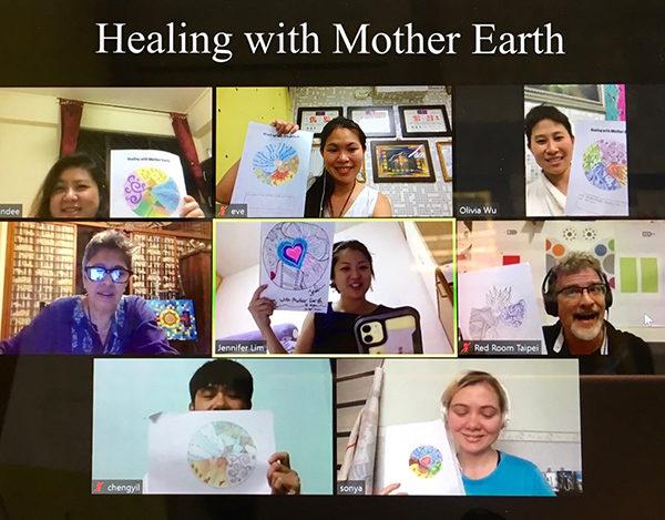 Virtual art and healing workshops for mental health awareness